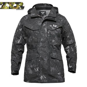 Zuoxiangru Men Tactical Clothing US Army M65 Field Jacket Trench Coats Hoodie Casaco Masculino Windbreaker Hombre Otoño