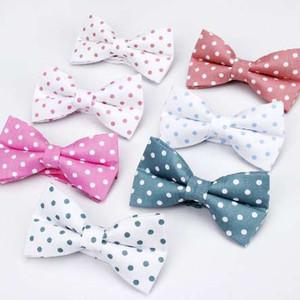 ianthe Homens New Vintage Polka Dot Imprimir casamento laços para Homem Vestido Gravatás noivo gravata borboleta Moda Bowties
