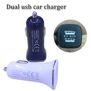 double chargeur de voiture usb 5V1A 5V2.1A chargeur rapide adaptateur chargeur adaptateur secteur chargeur de voiture pour samsung s4 s5 s6 s7 s8 plus iphone x expédition rapide