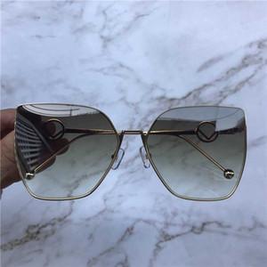 Nuevo diseño de moda las gafas de sol 0323 uv calidad superior de la estructura del ojo de gato estilo sencillo más vendido 400 gafas de protección con la caja