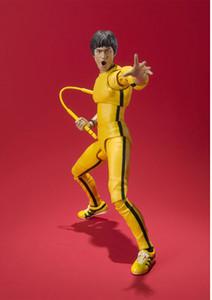 SHF Bruce Lee Bruce Jeu De La Mort 75ème Anniversaire Jaune Vêtements Mobile PVC Action Figure Modèle Jouets