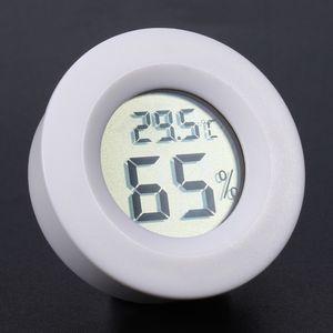 Mini LCD Dijital Yuvarlak Termometre Higrometre El Buzdolabı Sıcaklık Nem Ölçer Dondurucu Tester Dedektörü-50 ~ + 110 Derece