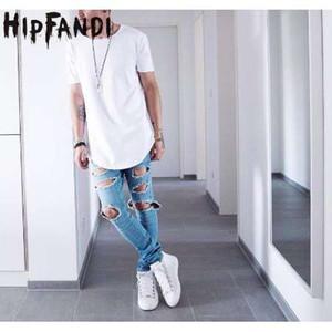HIPFANDI Estate Uomo Manica Corta Tuta Hip Hop Estesa Tyga Kpop Swag Vestiti Casual da Uomo Streetwear Camisetas