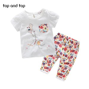 (GOOD QUALITY) Cotton Cute Cartoon Baby Clothes Sets Summer Girls Clothing Sets Baby Girl Clothes Set Short Sleeve and Pants