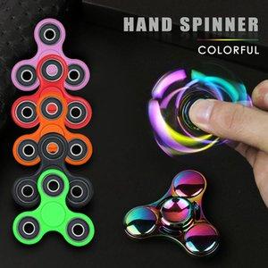 폴라 라이트 Fidget Tri Spinner 반짝이는 손 Spynner Figet Finger Spiner 불안에 대한 DIY 퍼즐 장난감 Anti-stress 성인 키즈 선물