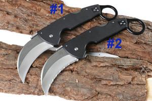 Распродажа! Холодное CA93003 Керамбит нож 440C сатин лезвия Blacl G10 Handle Складные лезвия когтя нож Liner Lock