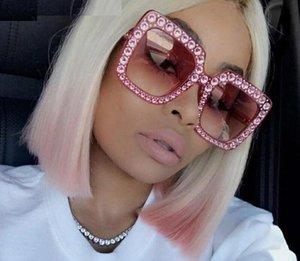 Retro Vintage Cat Eye Kristall Sonnenbrille Luxus Strass Sonnenbrille Für Frauen Designer Damen Übergroße Sonnenbrille Großhandel