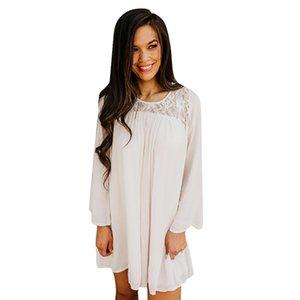 blusas mujer de moda 2018 элегантные женские блузки женские кружева o-образным вырезом с длинным рукавом рубашки топы блузка blusa feminina drop shipping