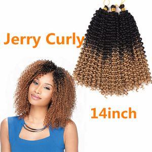 "Freetress 워터 웨이브 벌크 14 ""크로 셰 뜨개질 크로 셰 뜨개질 래치 후크 합성 Braiding 헤어 Natural Curly Hair 벌크 T27 / 30 / BUG"