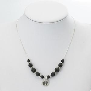 Nueva Lava-rock Bead Collares de Cuentas Aromaterapia Aceite Esencial Difusor Collares Natural Negro Lava / Amatista / Red Agate Yoga Joyería