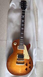 Kostenloser Versand ! Großhandel 1959 R9 Tiger Eistee Flamme E-Gitarre Standard-LP 59 Jimmy Page Schlepptau vos elektrische Gitarre 180418