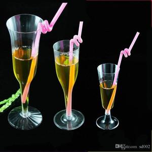 Tek kullanımlık Plastik Bardak Temizle Toksik Olmayan Kırmızı Şarap Gözlük Düğün Doğum Günü Partisi İçecek Suyu Kadehi Için Yeni Tasarım 0 7hc3 ZZ