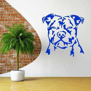 Stickers muraux Grand Stickers muraux pour Salon Chambre Home Décor Plan Wall Sticker Decal Fond d'écran Art chien de porc