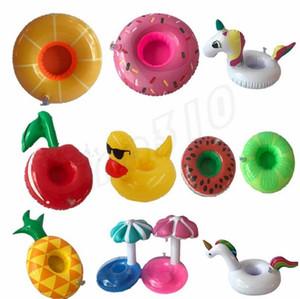 Mode gonflable Coupe du flotteur Porte-Flamingo Coupe Coasters gonflable Porte-DRINK piscine Matelas Air pour Party Supplies Cup