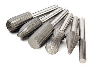 Freeshipping 6Pcs lot 6mm Shank Tungsten Steel Files Cutter Engraving Grinding Bit For Rotary Tools