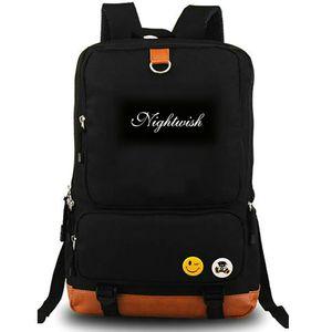 Nemo mochila mochila Nightwish bye banda de rock de música portátil mochila mochila bolsa de la escuela Hermoso lienzo mochila al aire libre