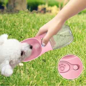 350 ML Pet Tigelas Pet Dispenser Dispenser Água Ao Ar Livre Portátil Dog Chaleira Tigela Branco Rosa Azul