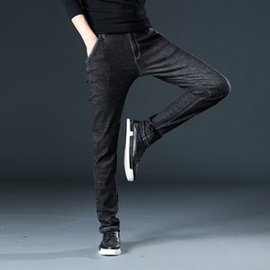 Sulee Marke für Herren Jeans Smart Casual Business-Jeans Gerade geschnittene Stretch Größe 44 46