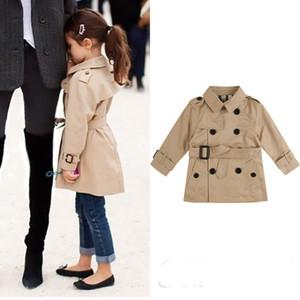 Kızlar Trençkot Sonbahar Kış Çocuk Parka KabanlarCoat Kızlar için Kruvaze Çocuk Giyim Ceket Dış Giyim Tops 2-8 T
