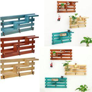 Support mural en bois support de cuisine salle de bain support de rangement organisateur petite clé cas de rangement suspendu décoration de la maison