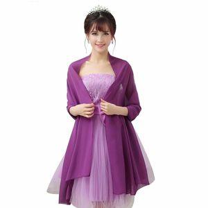 200cm * 75cm Frauen-Hochzeits-Verpackungen Bolero-Chiffon- Jacke Shrug für Brautparty nach Maß Farbe verfügbares 2019