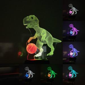 이중 색상 LED 라이트 공룡 원격 작은 나이트 라이트 컬러 조명 분위기 램프 도매 Dropshipping를 램프 7 색상 변경을 3D
