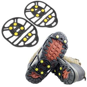 6 Stud Dientes Crampones Cubiertas de zapatos antideslizantes Elástico Magic Spike Ice Gripper Montañismo Crampon Tool Cubierta de zapatos al aire libre