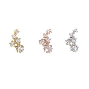 2018 Top qualité bien 925 argent sterling brillant cristal star star mini zircon cubique stud pour les femmes charme cadeau de mariage de mode