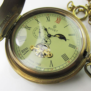 Old 100% Antique Double Cover  MoonPhase Mens Mechanical Pocket Watch