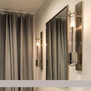 Regron Industrial Vintage Led lámpara de tubo de vidrio aplique de pared de oro Arandela para vestidor Corredor Hotel Cafe Estudio de arte Loft