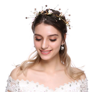 Flower  Hair Combs DIY Luxurious Bride Hair Accessories Handmade Wedding Korean Decoration Jewelry Party Bridal Starry