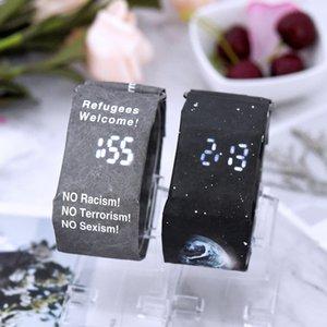 Moda impermeabile orologio da polso intelligente cinturino in carta resistente agli strappi orologio al quarzo impermeabile Multi stili DHL Free Stock