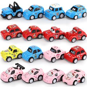 Giocattolo per bambini Cartoon auto Q versione mini in lega modello di auto set scorrevole modello di auto decorazione regalo di compleanno di Natale all'ingrosso