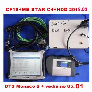 MB Star C4 Star Diagnosis SSD con portátil Toughbook CF-19 WIFI MB SD conecte el compacto 4 V2018.05