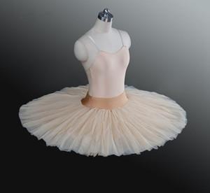 Tutu de balé bege saia tutu crianças preto ballet metade tutu branco ensaio profissional ballet platter praticando panqueca tutus para meninas