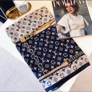 D0009 Новая европейская и американская дизайнерская женская одежда марки шарф с принтом, платок, элегантная женская обертка размером 180x90см.