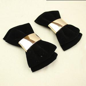 7 Colors Simple Fashion Double-deck Bowknot Shoes Clip Velvet Shoes Accessory for Women's Shoes High Heels Loafers