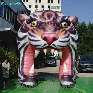 4m dekorativer Show-künstlicher Tiger-Eingang aufblasbarer Tiger Arch Tunnel