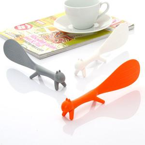 Arroz creativa linda Pala del estilo del soporte antiadherente ardilla plástico Rice Paddle comida cuchara Eco Friendly sana 0 88bz ii
