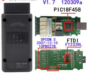 Haute qualité op com V1.7 PIC18F458 Puce FTDI op-com OBD2 Outil de diagnostic pour Opel OPCOM CAN BUS Interface