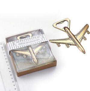 Abrebotellas del aeroplano 2 estilos en forma de abrelatas de cerveza para regalos de regalo de boda favor LX3384