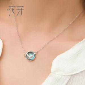 Thaya Mermaid köpük kabarcık tasarım kristal kolye s925 gümüş denizkızı kuyruğu Mavi kolye kolye kadınlar için zarif takı hediye Y1892805