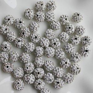 12mm 100 Parça Kristal Açacağı Disko Topu Kil Boncuk, Polimer Kil Rhinestone Boncuk Yuvarlak Takılar Takı Kazançlar
