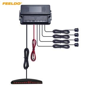Feeldo سيارة 22 ملليمتر 4-Sensor parking sensor عكس الرادار الاحتياطي مع الصمام عرض نظام المعونة 10-اختيار اللون # 2653