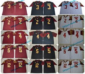 2018 Florida State Seminoles 3 Derwin James 4 Dalvin Cook 5 Jameis Winston 2 Deion Sanders 12 Deondre Francois FSU College Futbol Jersey