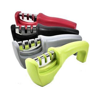 Afilador de cuchillos de cocina herramienta de cocina hogar herramienta de afilado de múltiples funciones de acero de tungsteno de cerámica Mango Cuchillo de la Casa Grindstone