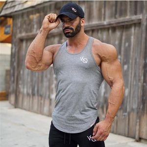 Gymohyeah Erkek Kolsuz Tankı Üstleri Yaz Gri Siyah Pamuk Erkek Tankı Spor Salonları Giyim Vücut Geliştirme Atlet Altınları Spor Tank Tops