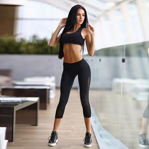 Kadınlar Bra + Pantolon Fitness Egzersiz Giyim Ve Kadın Spor Kız İnce Tayt Kadın İçin Suit Tops ayarlar