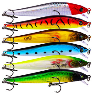 New Realistic Plastic bass fishing lure 6colors 10.5cm 9.5g Minnow Swimbaits lures Wobbler Artificial Fishing bait