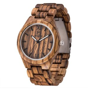Männer Frauen Uhren Unisex minimalistische Uhr Minimalismus Herrenuhr aus Holz Runde Quarz schwarz Farbe Sandalwood Fashion Top